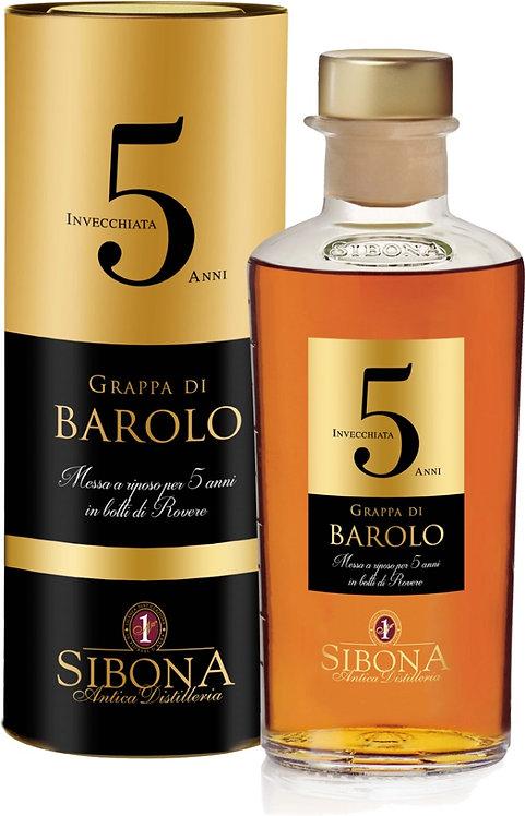 Antica Distilleria Sibona, Grappa Riserva Barolo 5 Years Old 44.0% 50cl