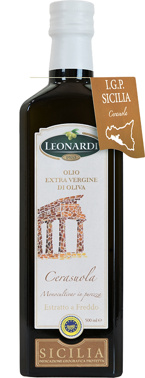 Leonardi, EXTRA VIRGIN OLIVE OIL CERASUOLA - PGI SICILY 50cl