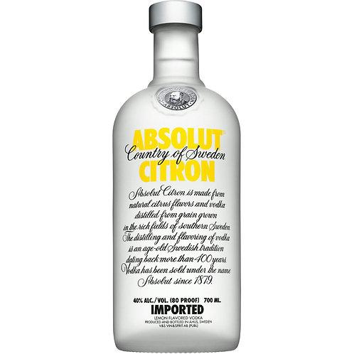Absolut - Citron (Lemon) - Swedish Vodka 40.0% 70cl