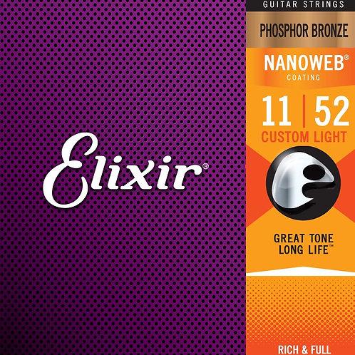 Elixir Acoustic Guitar Strings 11/52