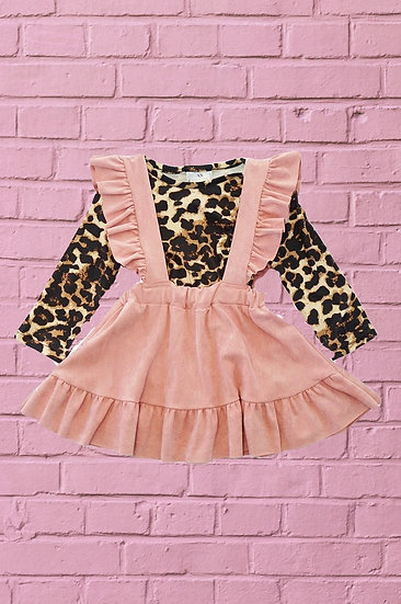 Blush Suspender and Leopard Dress