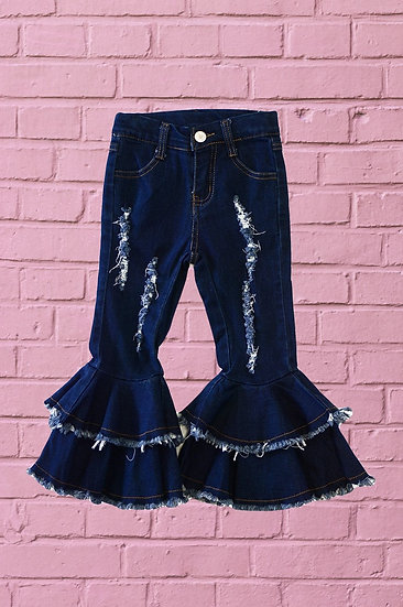 Blue Jean Bell Bottom Pants