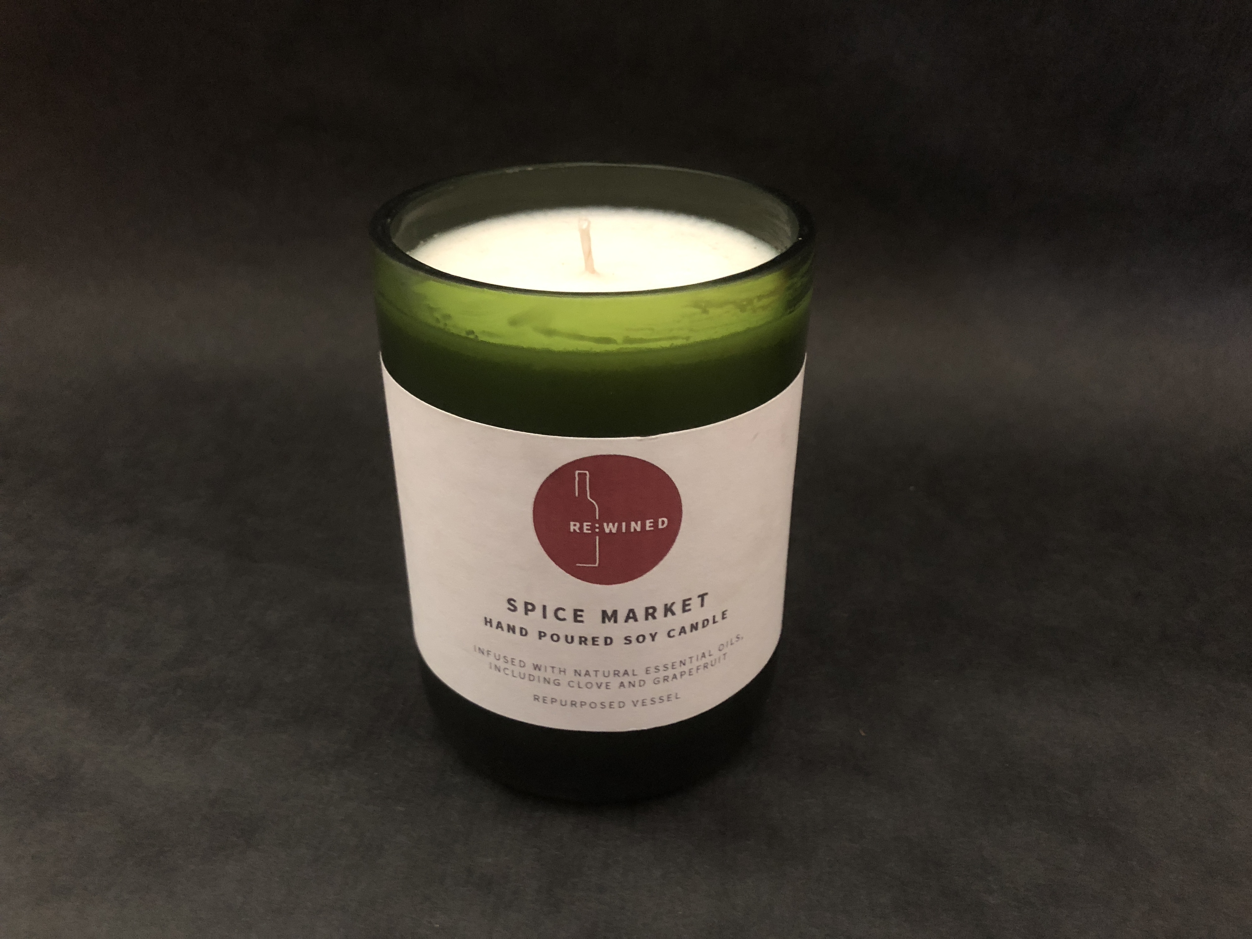Champagne Bottle Soy Candle