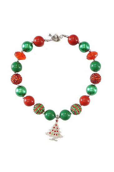 Christmas Bubblegum Necklace