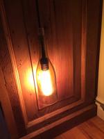 Shock testing our vintage pendant light.
