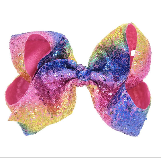 Multi- Color Sequin Hair Bow