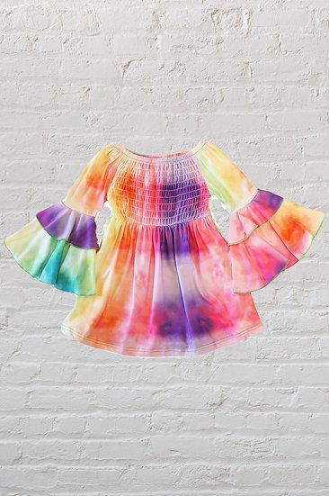 Rainbow Tie Dye Bell Dress
