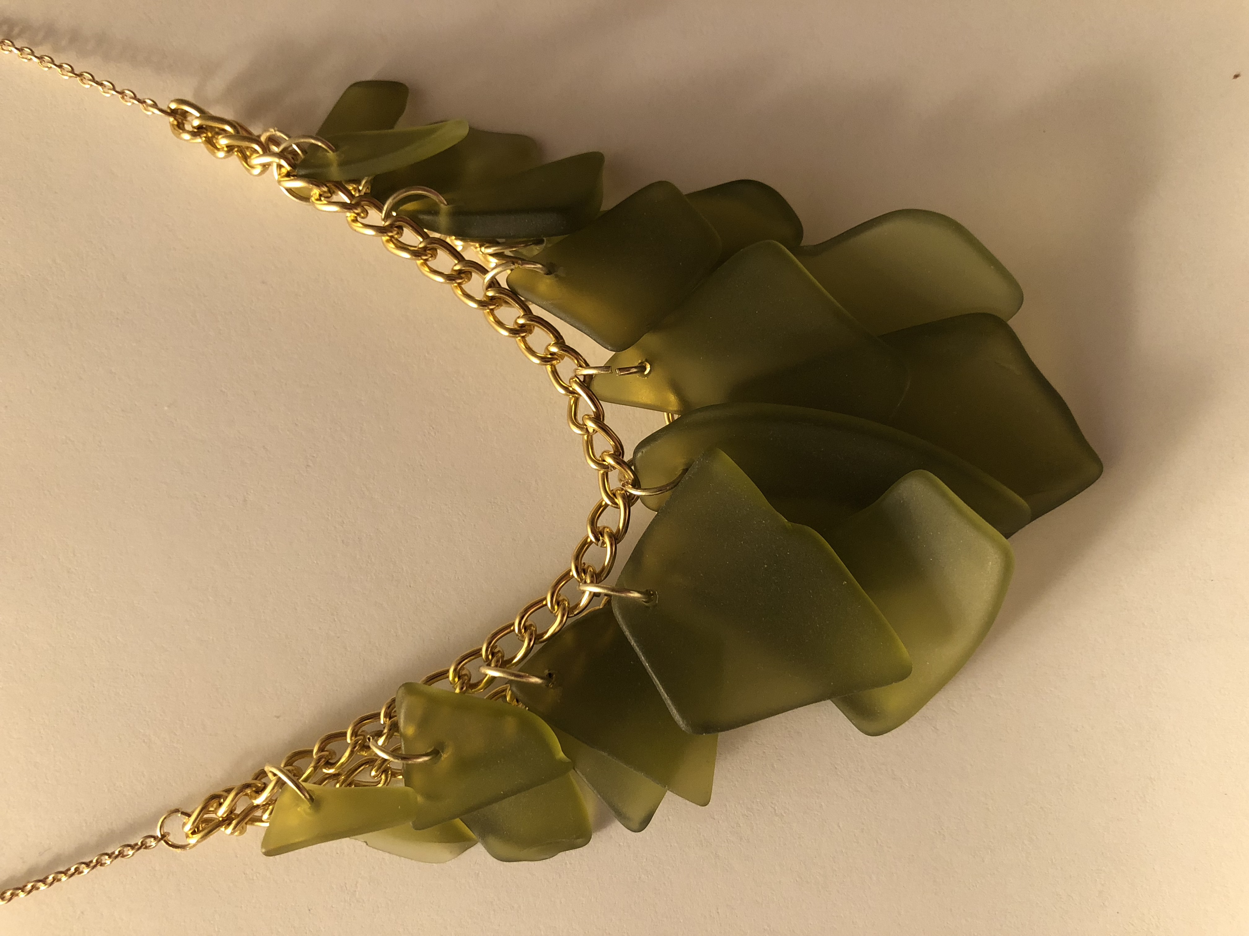 "Crafted ""Sea Glass"" Necklace"