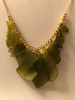 """Crafted """"Sea Glass"""" Necklace"""