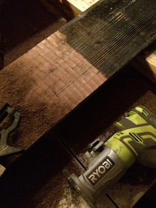 Transforming wood. This is an old fence board with the gray being skimmed off.