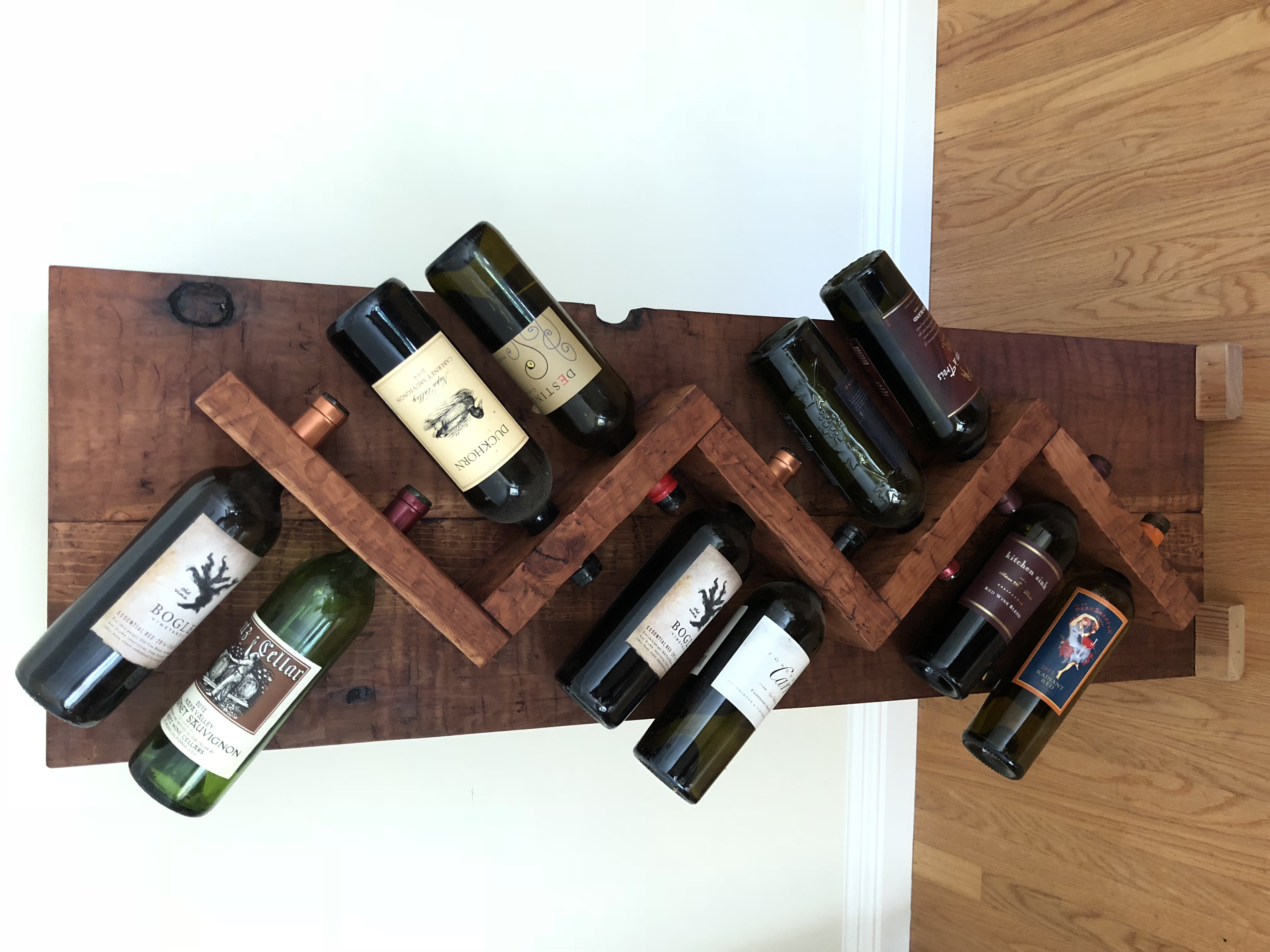 Modern and Rustic Wine Rack