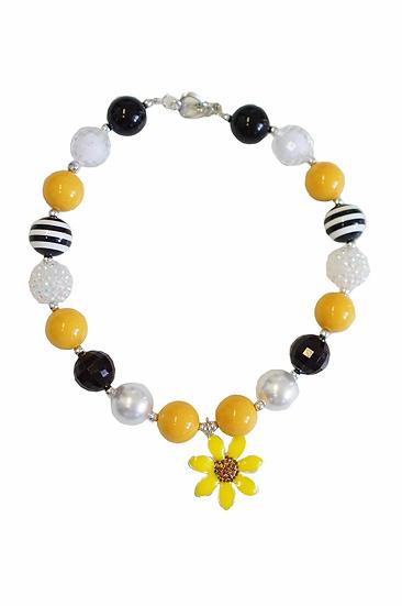 Sunflower Bubblegum Necklace