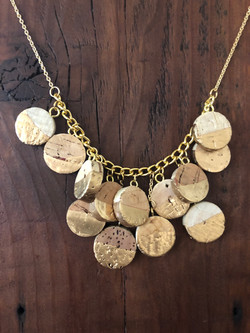 Gilded Cork Necklace