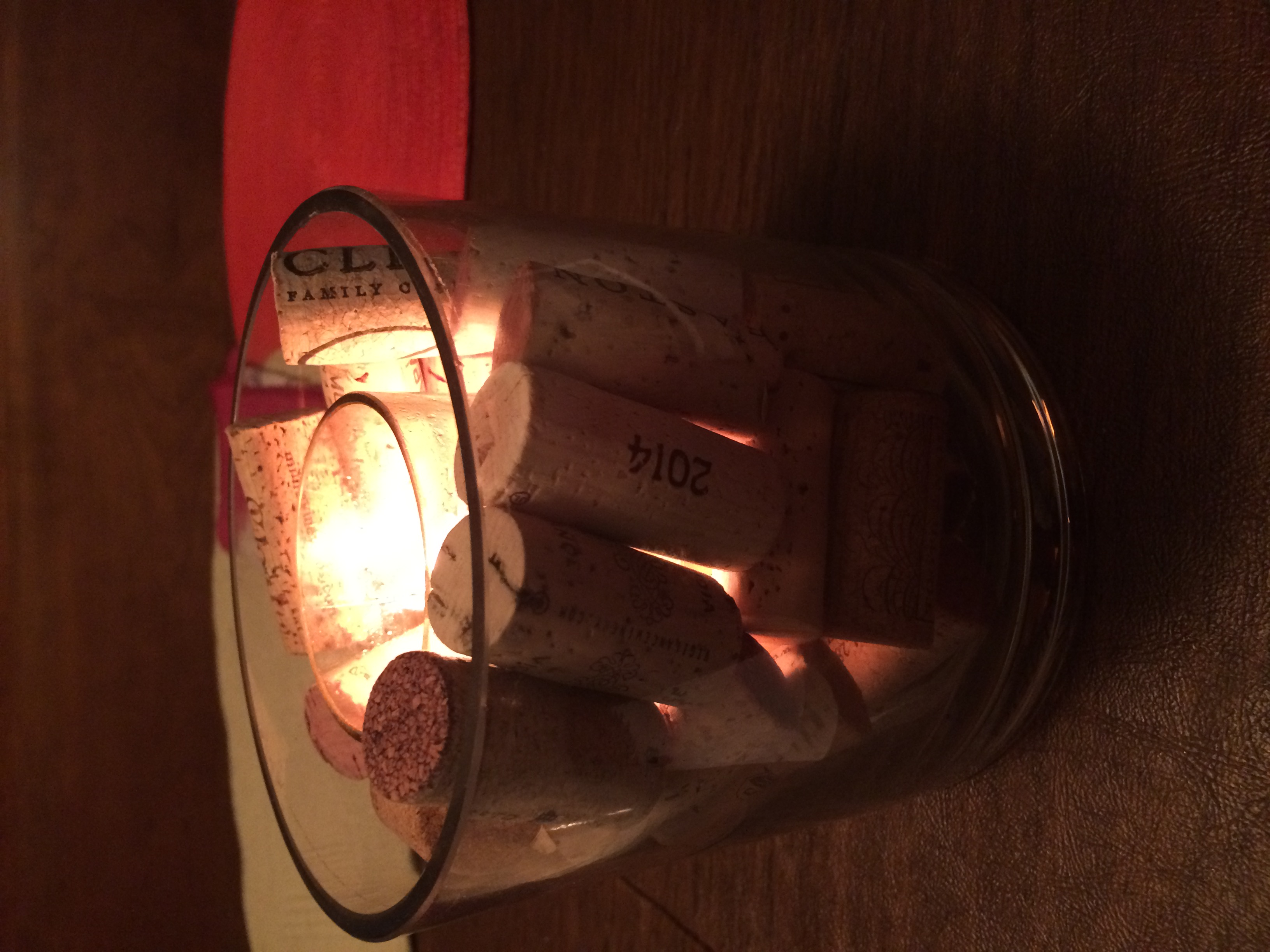 Corkcourri Candle at Night
