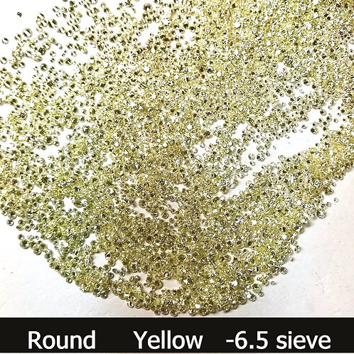 Yellow Round Size -6.5 seive