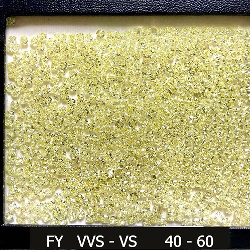 Fancy Yellow Size 0.40 - 0.60 carats