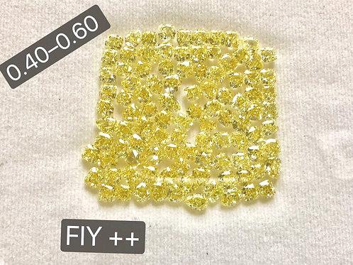 Intense Yellow Size 0.40 - 0.60 carats