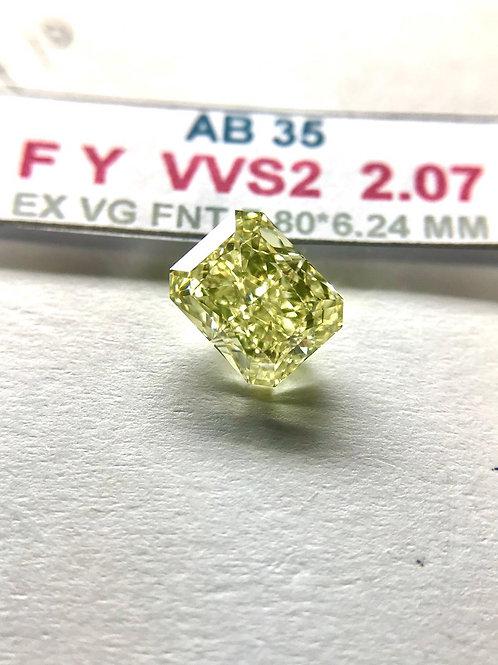 GIA 2.00 Carats Fancy Yellow