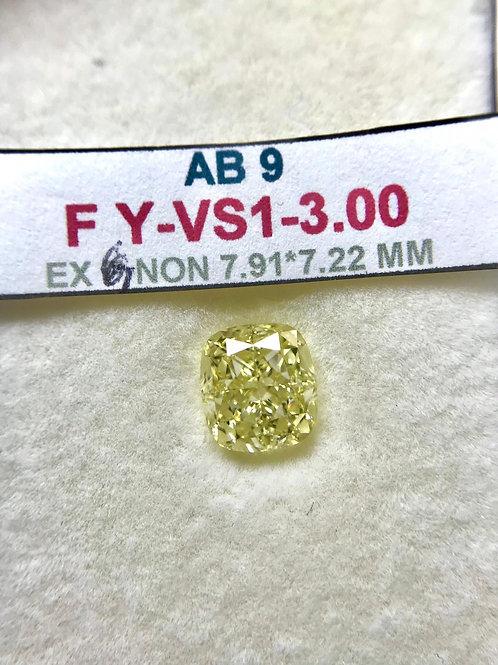 GIA 3.00 Carats Fancy Yellow