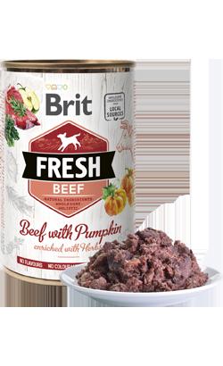 Brit Fresh Dog Beef with Pumpkin - Wet (Lata) - 6 x 400 g