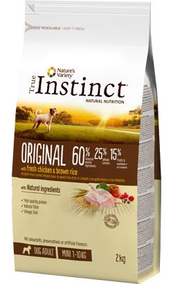True Instinct Dog Adult Original Mini Chicken & Brown Rice 600 g