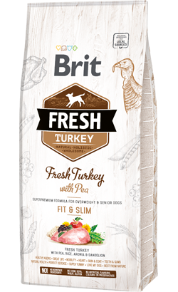 Brit Fresh Dog Light Fit & Slim with Turkey & Pea 12 Kg