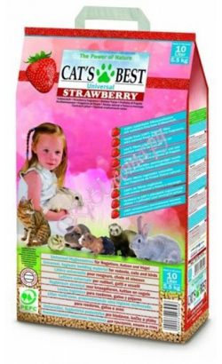 Areia Cat's Best Universal Strawberry 10 L