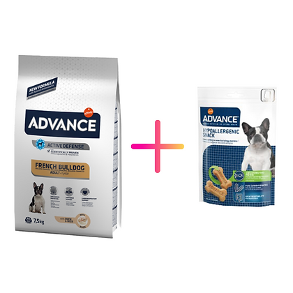 Advance Dog Adult French Bulldog + Advance Dog Hypoallergenic Snack