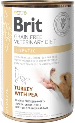 Brit Vet Diet Dog Hepatic Grain-Free Turkey with Pea - Lata - 6 x 400 g