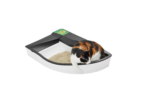 Auto Self cleaning litter box - White