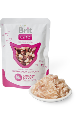 Brit Care Cat Wet - Chicken & Duck - 12 x 80 g