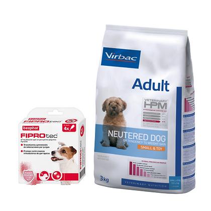 Virbac HPM Adult Neutered S&T 7 kg + Beaphar Fiprotec Spot On Cão Pequeno 2-10kg