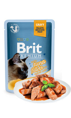 Brit Blue Cat Delicate Fillets in Gravy with Turkey - 6 x 85 g