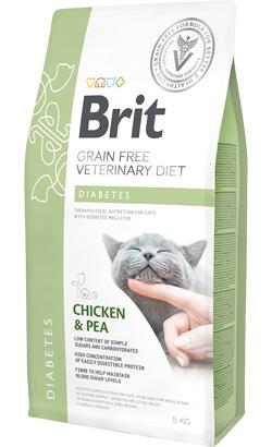 Brit Veterinary Diet Cat Diabetes Grain-Free Chicken & Pea 2 kg
