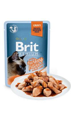 Brit Blue Cat Delicate Fillets in Gravy with Tuna - 6 x 85 g