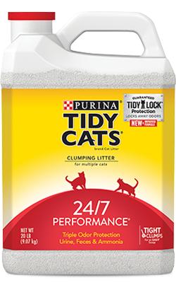 Areia Auto Aglomerante Tidy Cats 24/7 Performance 6,35 Kg