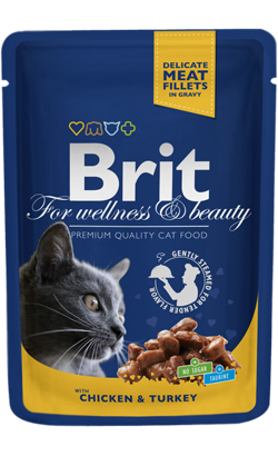 Brit Blue Cat Wet - Chicken & Turkey - 6 x 100 g