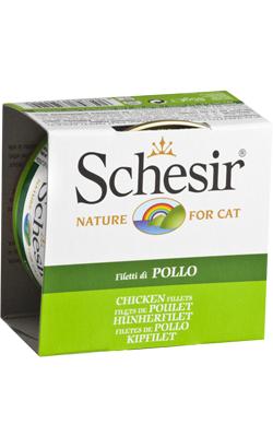 Schesir Cat Filete de Frango em Gelatina Wet (Lata) 14 x 85 g
