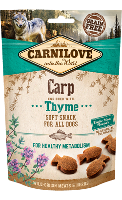 Carnilove Dog Soft Snack Carp With Thyme 200 g
