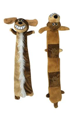 Eurosiam Brinquedo Large Funny Dog Plush with Squeaker & Crinkle - 1 Unidade