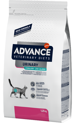Advance Vet Cat Urinary Sterilized Low Calorie 1,25 kg