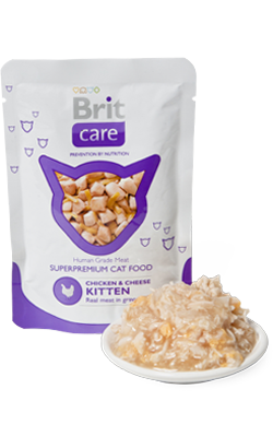 Brit Care Cat Kitten Wet - Chicken & Breast - 24 x 80 g