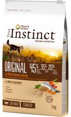 True Instinct Cat Adult Sterilized Original Salmon & Barley 300 g
