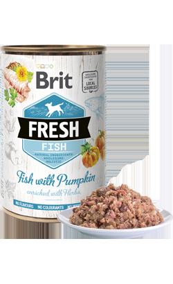Brit Fresh Dog Fish with Pumpkin - Wet (Lata) - 6 x 400 g
