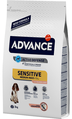 Advance Dog Medium & Maxi Adult Sensitive Salmon & Rice 12 Kg