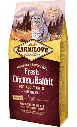 Carnilove Fresh Chicken & Rabbit Adult Cat Gourmands 6 kg