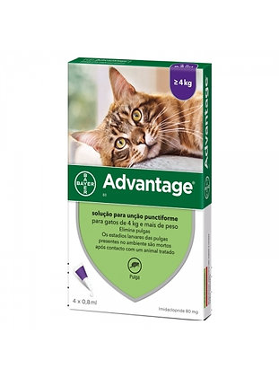 Advantage gatos > 4 kg