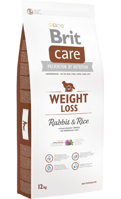 Brit Care Dog Weight Loss Adult All Breeds Rabbit & Rice 12 kg