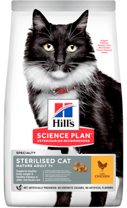 Hills Science Plan Sterilised Mature Adult 7+ Cat with Chicken 1,5 kg