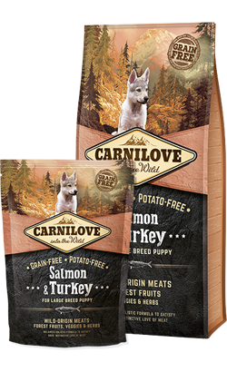 Carnilove Salmon & Turkey Puppy Large Breed 1,5 kg